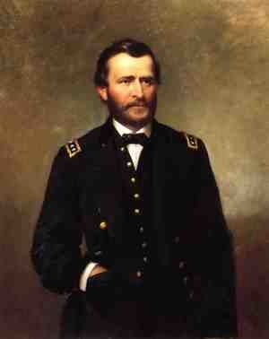 Famous paintings of Portraits: Portrait of General Ulysses S. Grant