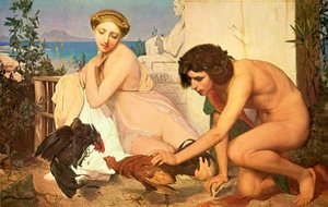 Reproduction oil paintings - Jean-Léon Gérôme - Young Greeks at a Cock Fight