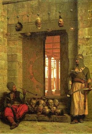 Reproduction oil paintings - Jean-Léon Gérôme - The Door of the El-Hassanein Mosque in Cairo