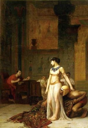 Reproduction oil paintings - Jean-Léon Gérôme - Caesar and Cleopatra