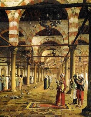 Reproduction oil paintings - Jean-Léon Gérôme - Paryer in the Mosque