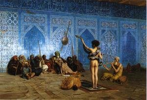 Reproduction oil paintings - Jean-Léon Gérôme - Snake Charmer