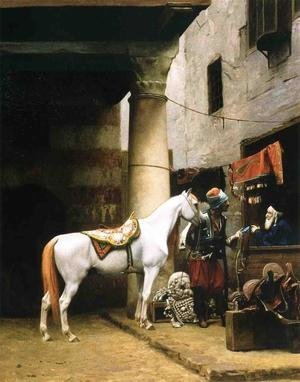 Reproduction oil paintings - Jean-Léon Gérôme - Arab Purchasing a Bridle