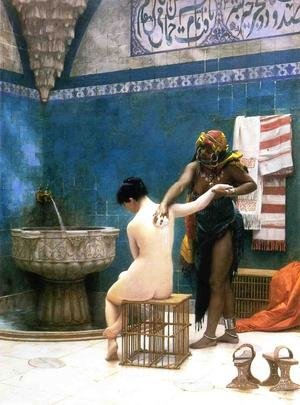 Reproduction oil paintings - Jean-Léon Gérôme - Moorish Bath