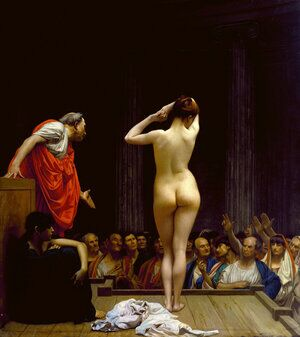 Reproduction oil paintings - Jean-Léon Gérôme - Selling Slaves in Rome