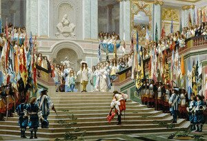 Reproduction oil paintings - Jean-Léon Gérôme - The Reception for Prince Conde at Versailles
