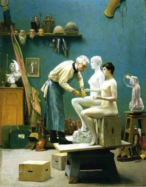 Reproduction oil paintings - Jean-Léon Gérôme - Working in Marble