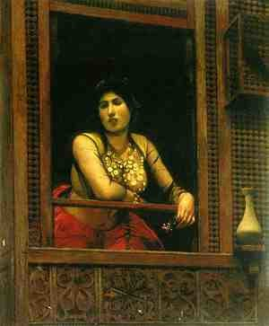 Reproduction oil paintings - Jean-Léon Gérôme - Woman at Her Window