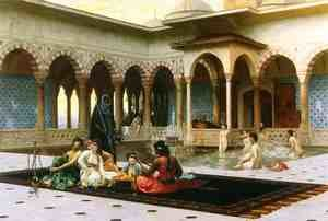 Famous paintings of Pools: The Harem on the Terrace