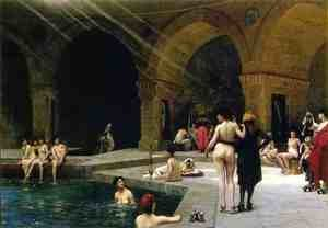 Reproduction oil paintings - Jean-Léon Gérôme - Grande Piscine de Brousse