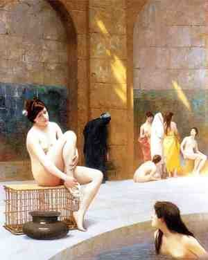 Famous paintings of Pools: Women Bathing