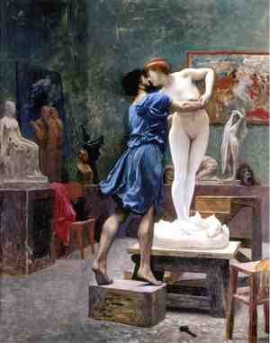 Reproduction oil paintings - Jean-Léon Gérôme - Pygmalion and Galatea (study)