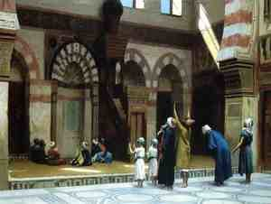 Reproduction oil paintings - Jean-Léon Gérôme - Prayer in the Mosque of Caid Bey, in Cairo