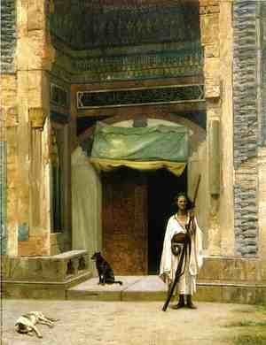 Reproduction oil paintings - Jean-Léon Gérôme - Door of the Green Mosque