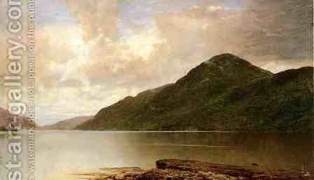 Black Mountain, Lake George by John Frederick Kensett - Reproduction Oil Painting