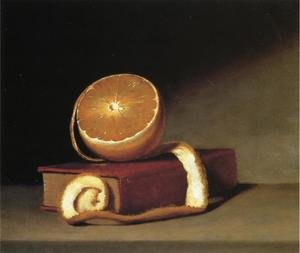 Raphaelle Peale reproductions - Still Life with Orange and Book