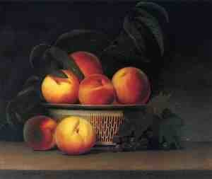 Reproduction oil paintings - Raphaelle Peale - Peaches and Unripe Grapes