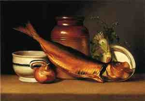 Reproduction oil paintings - Raphaelle Peale - Still Liife with Dried Fish