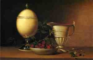 Reproduction oil paintings - Raphaelle Peale - Still Life with Strawberries and Ostrich Egg Cup