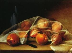 Reproduction oil paintings - Raphaelle Peale - Fruit Piece with Peaches Covered by a Handkerchief