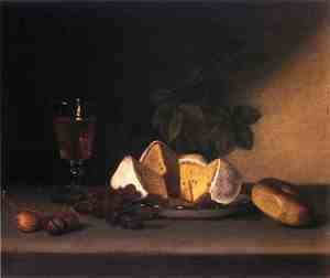 Reproduction oil paintings - Raphaelle Peale - Still Life: Wine, Cakes and Nuts
