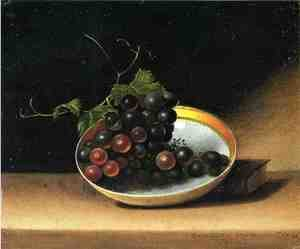 Reproduction oil paintings - Raphaelle Peale - Still Life with Grapes and Dish