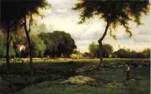 Reproduction oil paintings - George Inness - Montclair Evening