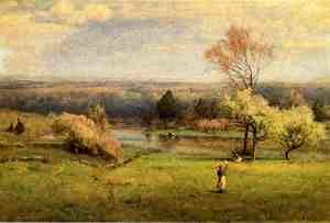 Reproduction oil paintings - George Inness - Pond at Milton on the Hudson I