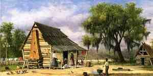 Famous paintings of Black Art: Cabin Scene I