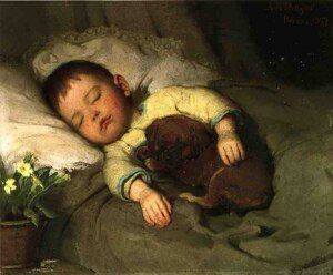 Famous paintings of Portraits: Sleep