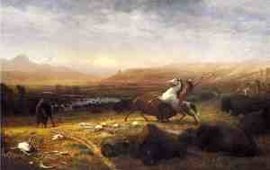 Famous paintings of Horses & Horse Riding: Last of the Buffalo