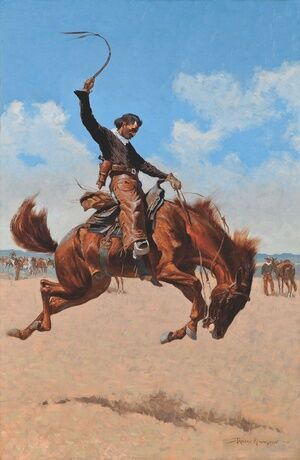 Famous paintings of Horses & Horse Riding: The Bronco Buster