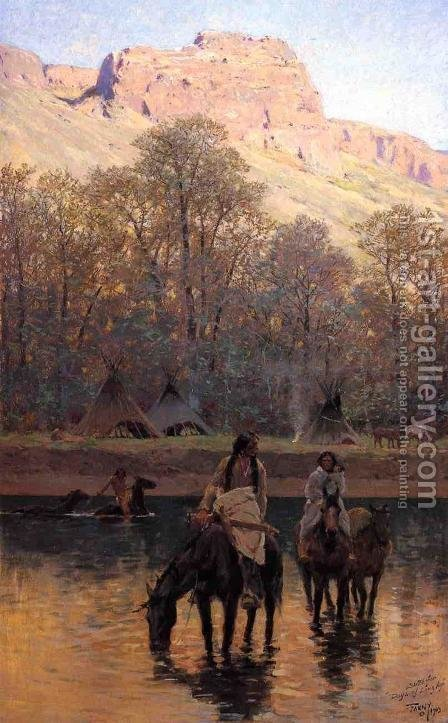 Days of Long Ago by Henry Farny - Reproduction Oil Painting