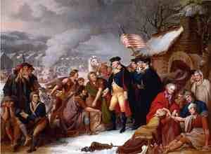 Famous paintings of Horses & Horse Riding: George Washington at Valley Forge