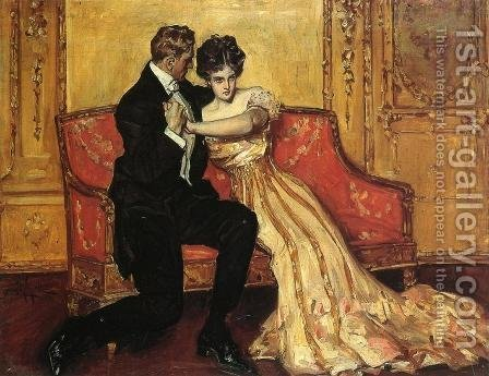 The Marriage Proposal by Albert B. Wenzell - Reproduction Oil Painting
