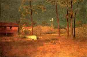 Reproduction oil paintings - George Inness - George Inness's Home, Tarpon Springs, Florida