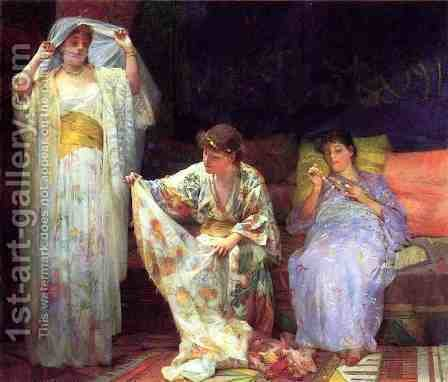 The Harem by Henry Siddons Mowbray - Reproduction Oil Painting