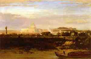 Reproduction oil paintings - George Inness - View of St. Peter's, Rome
