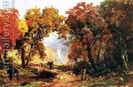 Autumn Landscape by Abbott Handerson Thayer - Reproduction Oil Painting