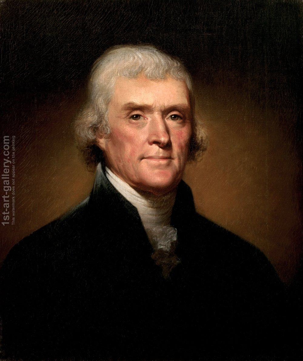 Huge version of Portrait of Thomas Jefferson