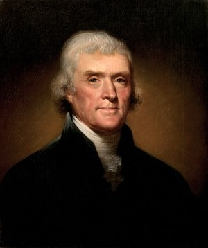 Reproduction oil paintings - Rembrandt Peale - Portrait of Thomas Jefferson