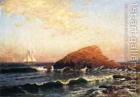 Little Bass Rock, Narragansett, RI by Alfred Thompson Bricher - Reproduction Oil Painting