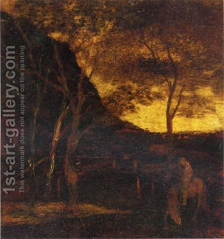 At the Ford by Albert Pinkham Ryder - Reproduction Oil Painting