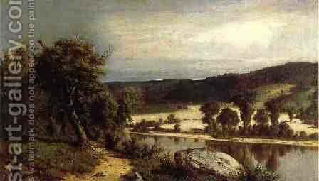 River Landscape by Alexander Helwig Wyant - Reproduction Oil Painting