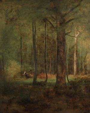Reproduction oil paintings - George Inness - Woods at Montclaiir