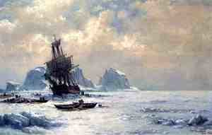 Reproduction oil paintings - William Bradford - Caught in the Ice