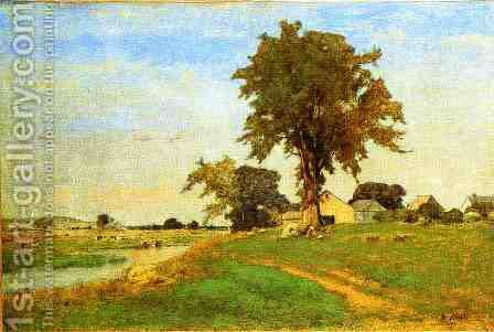 Old Elm at Medfield by George Inness - Reproduction Oil Painting