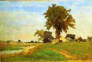 Reproduction oil paintings - George Inness - Old Elm at Medfield