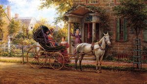 Edward Lamson Henry reproductions - Stopping for a Chat