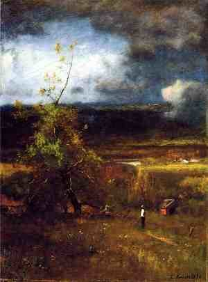 Reproduction oil paintings - George Inness - Gethering Clouds